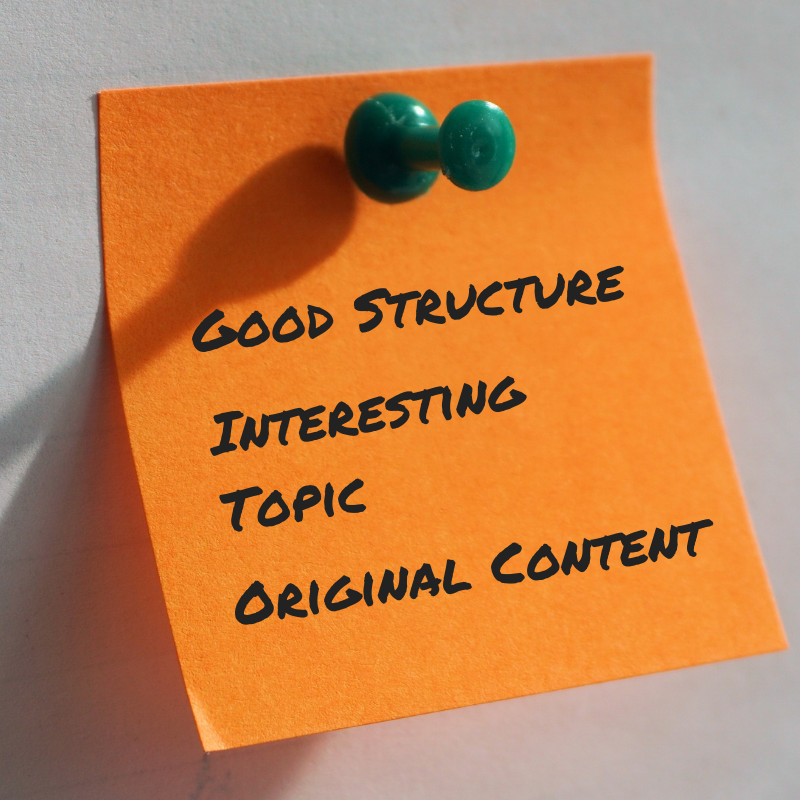 Readable website content uses good structure and interesting topics